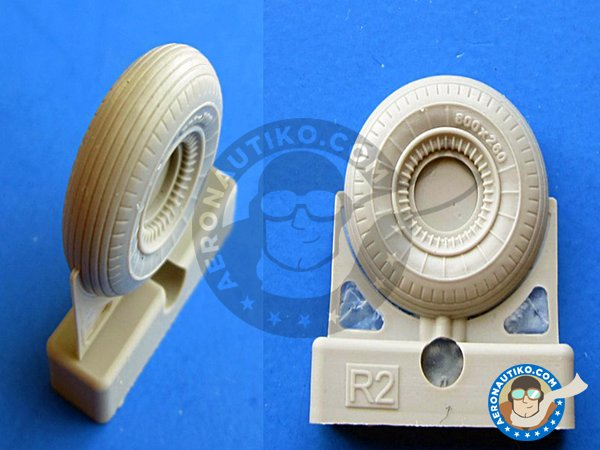 Image 2: Il-2 Wheels | Wheels in 1/48 scale manufactured by Eduard (ref.648072)