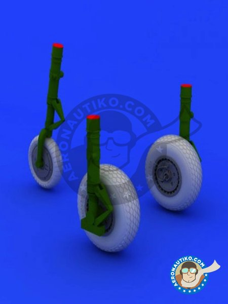 Messerschmitt Me 262 Wheels | Wheels in 1/48 scale manufactured by Eduard (ref. 648106) image