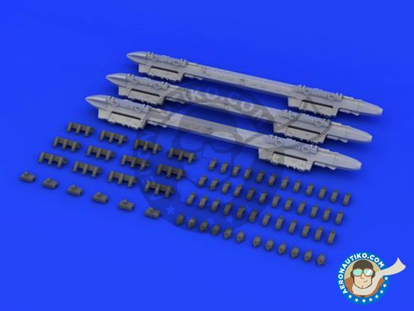 Image 1: MER Multiple Ejector Rack | Missiles in 1/48 scale manufactured by Eduard (ref. 648227)