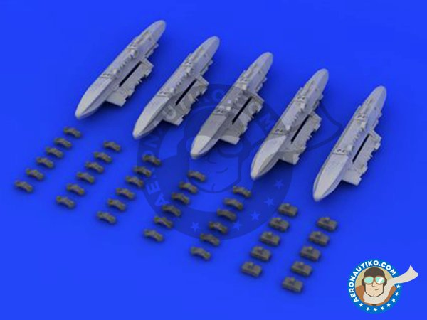Image 1: TER Triple Ejector Rack | Missiles in 1/48 scale manufactured by Eduard (ref. 648232)
