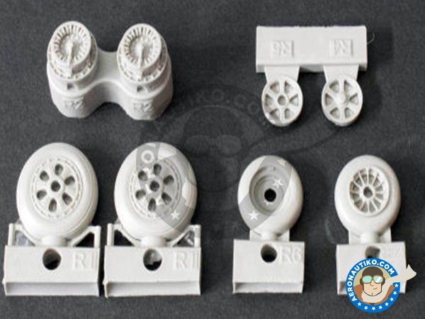 Image 1: F-86F Wheels | Wheels in 1/48 scale manufactured by Eduard (ref. 648235)