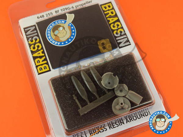 Image 5: Messerschmitt Bf 109 G-6 | Propeller in 1/48 scale manufactured by Eduard (ref. 648255)