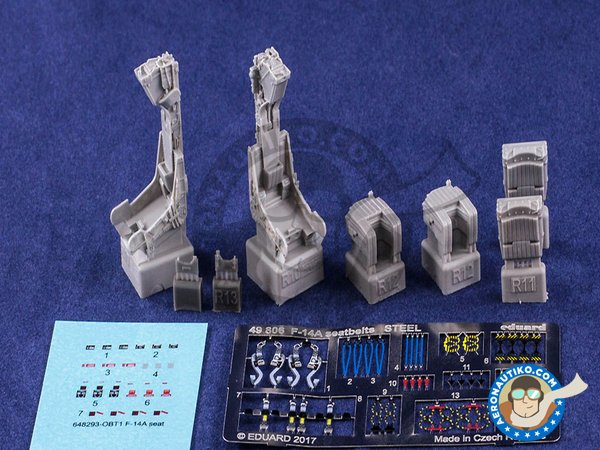 Image 1: F-14A Ejection Seat | Seat in 1/48 scale manufactured by Eduard (ref. 648293)