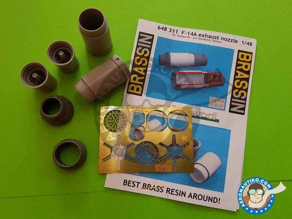 Image 1: F-14A Exhaust Nozzles | Exhaust nozzle in 1/48 scale manufactured by Eduard (ref.648311)
