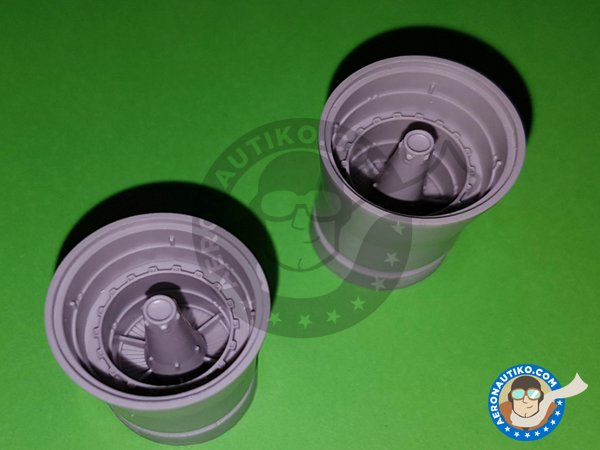 Image 2: F-14A Exhaust Nozzles | Exhaust nozzle in 1/48 scale manufactured by Eduard (ref.648311)