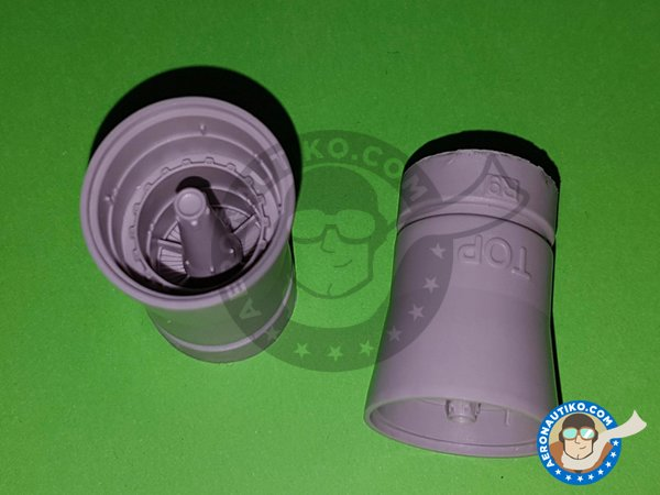 Image 3: F-14A Exhaust Nozzles | Exhaust nozzle in 1/48 scale manufactured by Eduard (ref. 648311)
