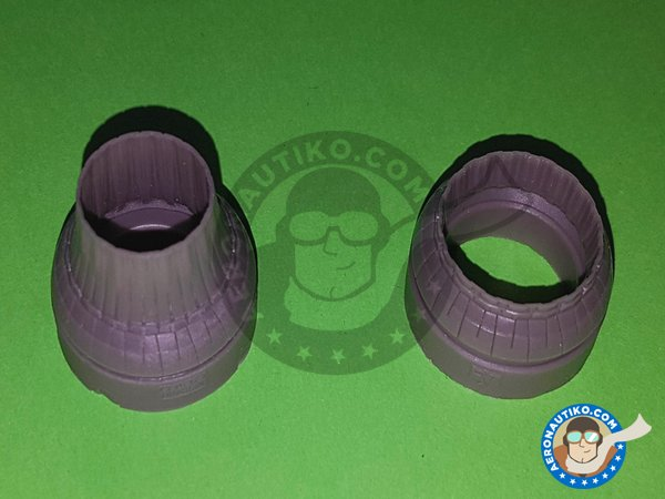 Image 4: F-14A Exhaust Nozzles | Exhaust nozzle in 1/48 scale manufactured by Eduard (ref. 648311)