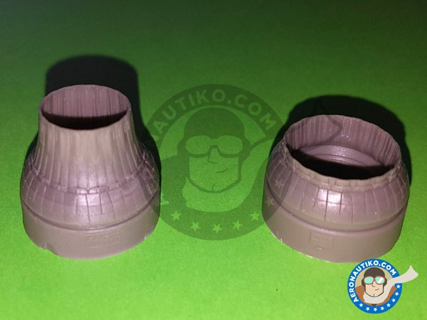 Image 5: F-14A Exhaust Nozzles | Exhaust nozzle in 1/48 scale manufactured by Eduard (ref. 648311)