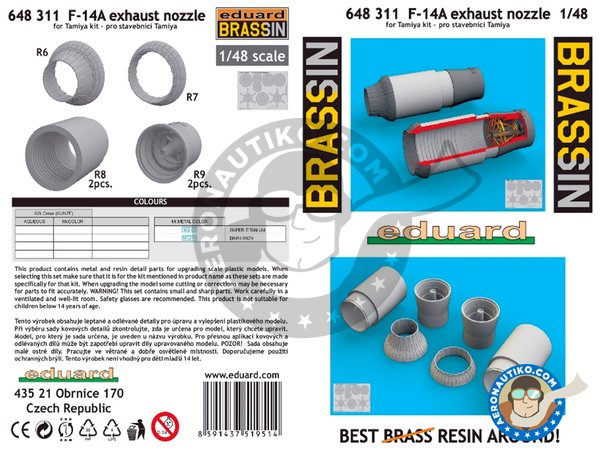 Image 7: F-14A Exhaust Nozzles | Exhaust nozzle in 1/48 scale manufactured by Eduard (ref.648311)