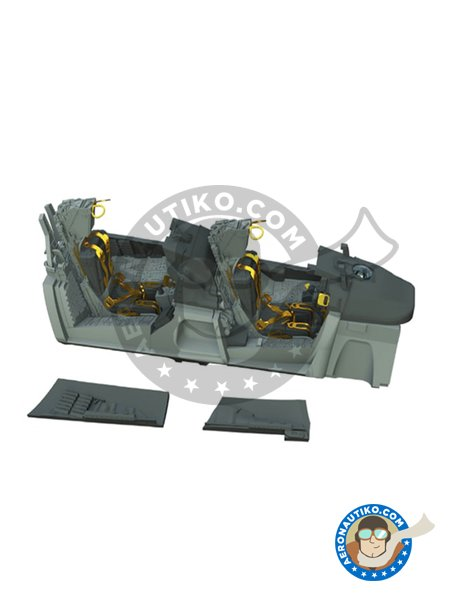 F-14A Tomcat Cockpit | Cockpit set in 1/48 scale manufactured by Eduard (ref. 648312) image