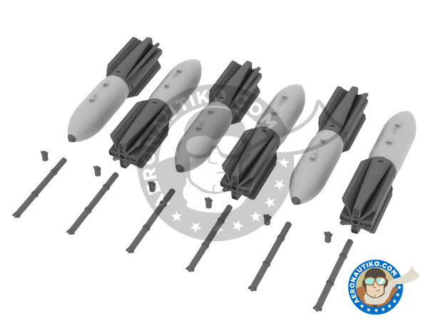 Image 1: M117 | Bombs in 1/72 scale manufactured by Eduard (ref.672059)