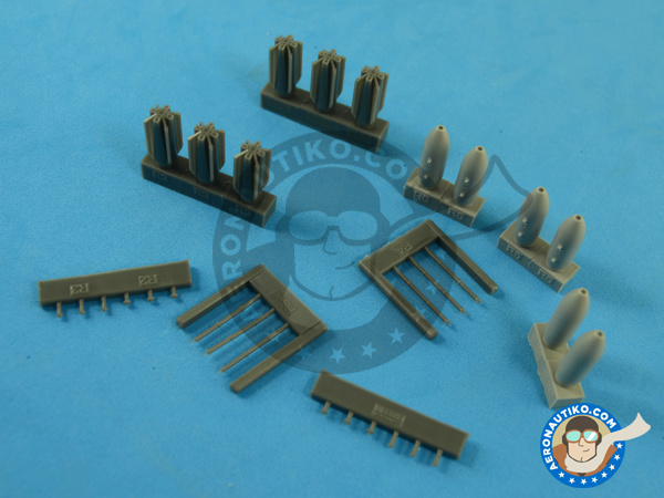 Image 3: M117 | Bombs in 1/72 scale manufactured by Eduard (ref.672059)