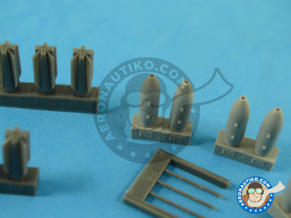 Image 5: M117 | Bombs in 1/72 scale manufactured by Eduard (ref.672059)