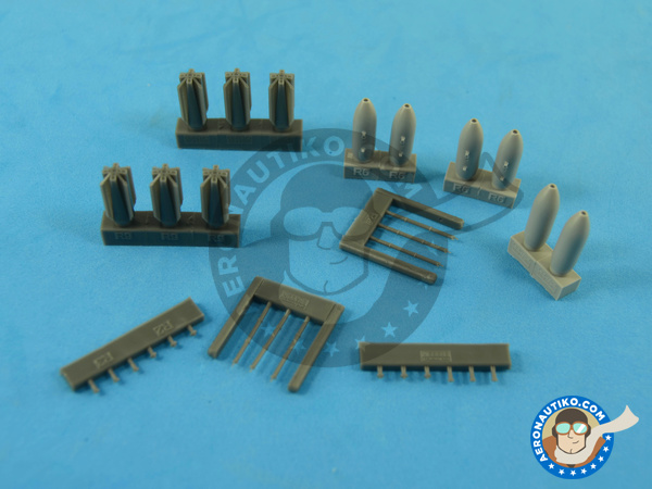 Image 7: M117 | Bombs in 1/72 scale manufactured by Eduard (ref.672059)