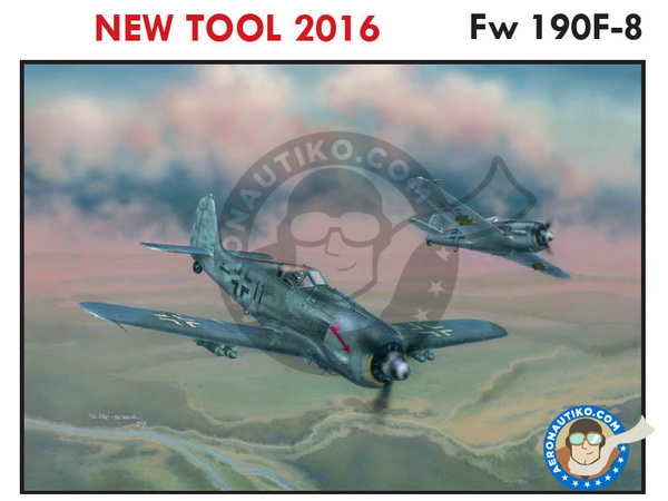 Image 1: Focke-Wulf Fw 190 Würger F-8 | Airplane kit in 1/72 scale manufactured by Eduard (ref. 70119)