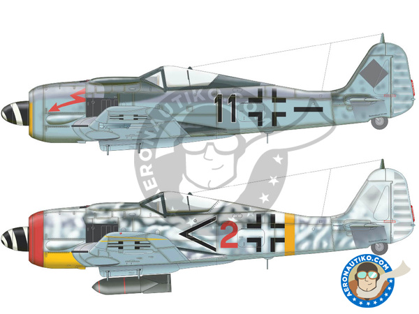 Image 4: Focke-Wulf Fw 190 Würger F-8 | Airplane kit in 1/72 scale manufactured by Eduard (ref. 70119)