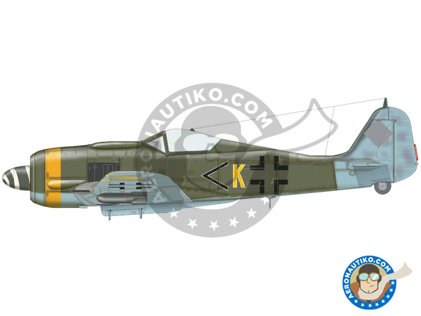Image 6: Focke-Wulf Fw 190 Würger F-8 | Airplane kit in 1/72 scale manufactured by Eduard (ref. 70119)