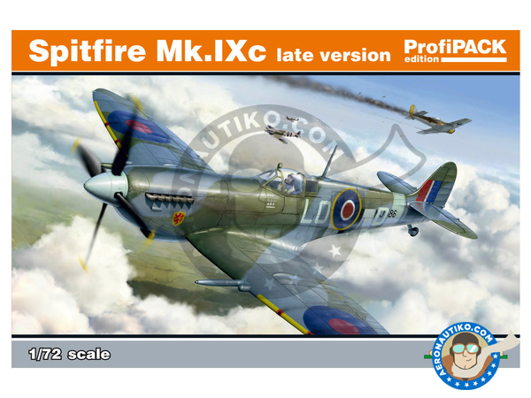 Image 1: Supermarine Spitfire Mk. IXc late | Airplane kit in 1/72 scale manufactured by Eduard (ref. 70121)