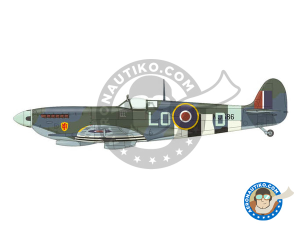 Image 2: Supermarine Spitfire Mk. IXc late | Airplane kit in 1/72 scale manufactured by Eduard (ref. 70121)