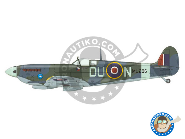 Image 3: Supermarine Spitfire Mk. IXc late | Airplane kit in 1/72 scale manufactured by Eduard (ref. 70121)