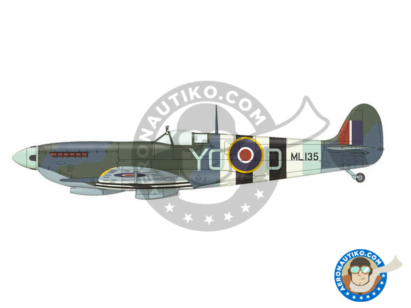 Image 6: Supermarine Spitfire Mk. IXc late | Airplane kit in 1/72 scale manufactured by Eduard (ref. 70121)