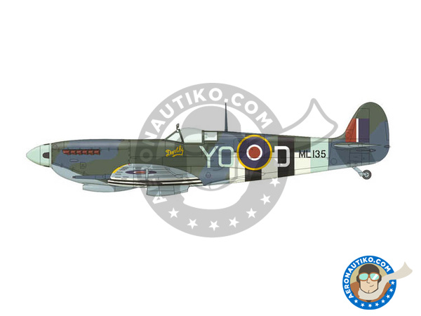Image 7: Supermarine Spitfire Mk. IXc late | Airplane kit in 1/72 scale manufactured by Eduard (ref. 70121)