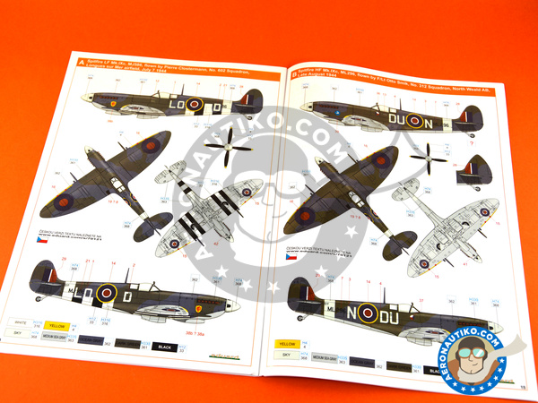 Image 22: Supermarine Spitfire Mk. IXc late | Airplane kit in 1/72 scale manufactured by Eduard (ref. 70121)