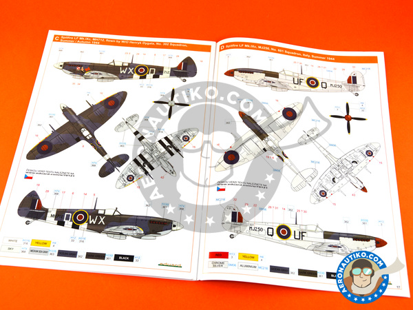 Image 23: Supermarine Spitfire Mk. IXc late | Airplane kit in 1/72 scale manufactured by Eduard (ref. 70121)