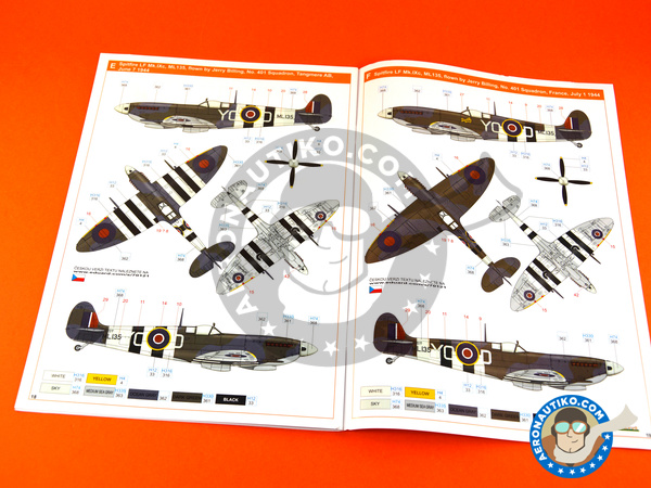 Image 24: Supermarine Spitfire Mk. IXc late | Airplane kit in 1/72 scale manufactured by Eduard (ref. 70121)