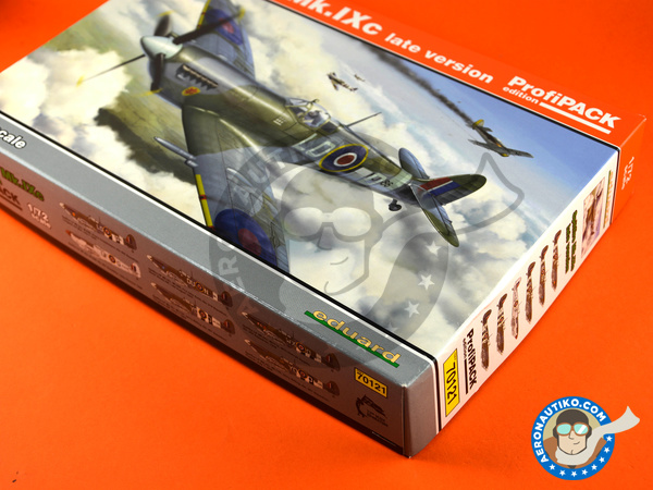 Image 28: Supermarine Spitfire Mk. IXc late | Airplane kit in 1/72 scale manufactured by Eduard (ref. 70121)