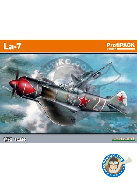 La-7 | Model kit in 1/72 scale manufactured by Eduard (ref. 7066) image