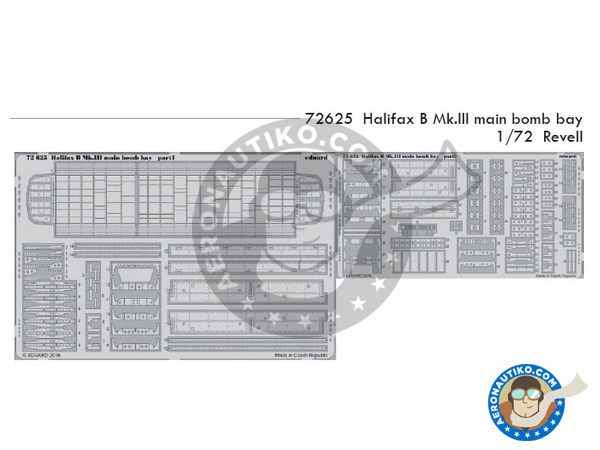 Image 1: Handley Page Halifax B Mk. III | Photo-etched parts in 1/72 scale manufactured by Eduard (ref.72625)