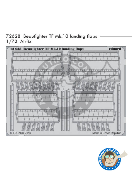 Bristol Beaufighter TF Mk. X | Photo-etched parts in 1/48 scale manufactured by Eduard (ref. 72628) image