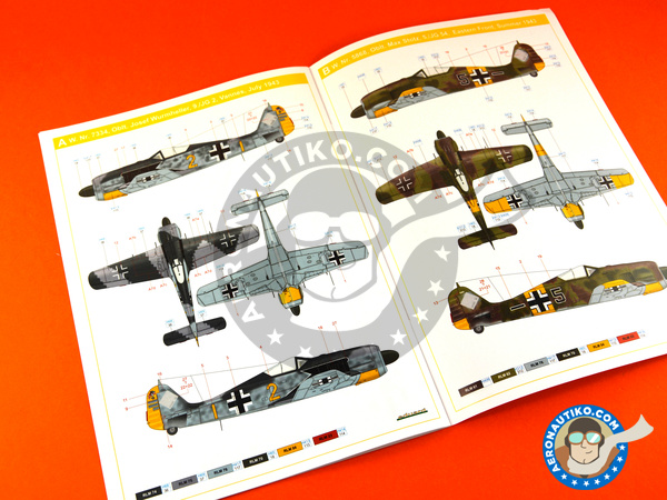 Image 10: Focke-Wulf Fw 190 Würger A-5 | Airplane kit in 1/72 scale manufactured by Eduard (ref. 7436)