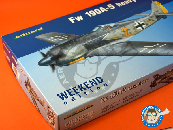Image 11: Focke-Wulf Fw 190 Würger A-5 | Airplane kit in 1/72 scale manufactured by Eduard (ref. 7436)