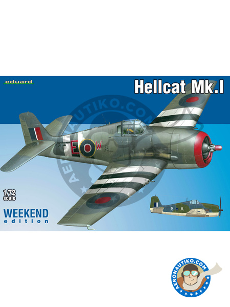 Grumman F6F Hellcat Mk. I | Airplane kit in 1/72 scale manufactured by Eduard (ref.7437) image