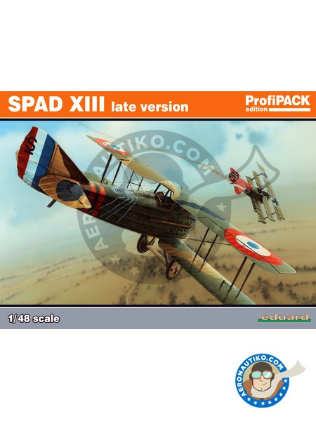 SPAD XIII late version | Airplane kit in 1/48 scale manufactured by Eduard (ref. 8196) image