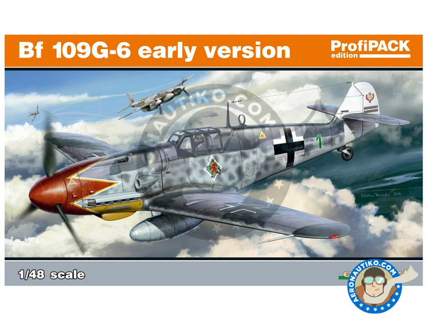 Image 1: Messerschmitt Bf 109 G-6 early | Airplane kit in 1/48 scale manufactured by Eduard (ref. 82113)