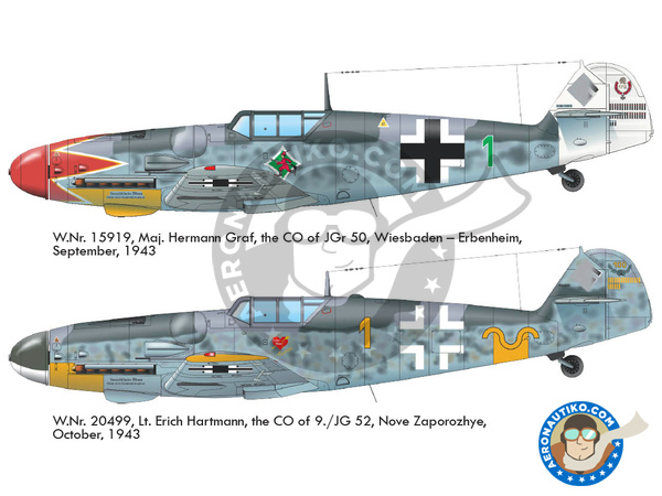 Image 2: Messerschmitt Bf 109 G-6 early | Airplane kit in 1/48 scale manufactured by Eduard (ref. 82113)