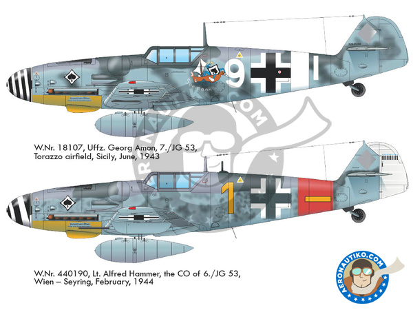 Image 3: Messerschmitt Bf 109 G-6 early | Airplane kit in 1/48 scale manufactured by Eduard (ref. 82113)