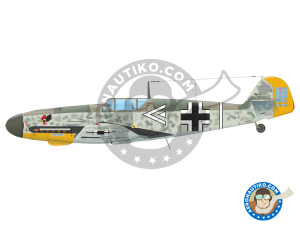Image 1: Messerschmitt Bf 109 F-4 | Airplane kit in 1/48 scale manufactured by Eduard (ref. 82114)