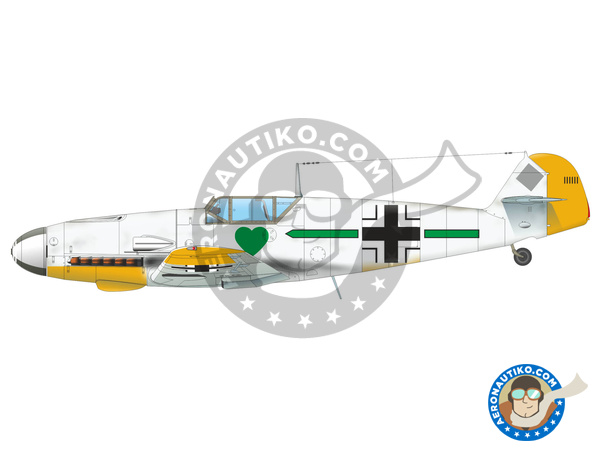 Image 2: Messerschmitt Bf 109 F-4 | Airplane kit in 1/48 scale manufactured by Eduard (ref. 82114)