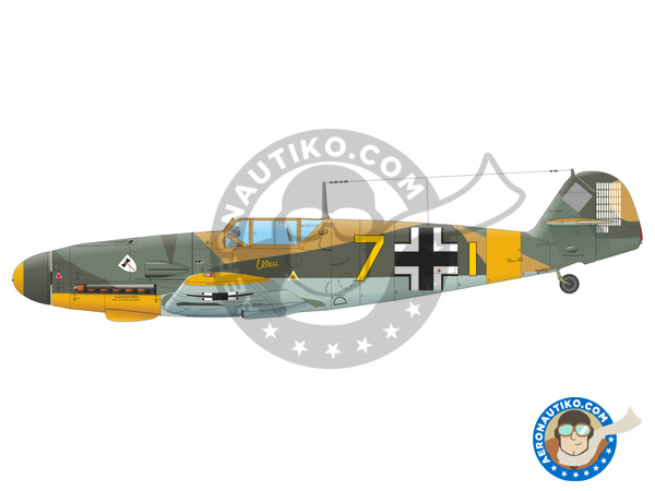 Image 3: Messerschmitt Bf 109 F-4 | Airplane kit in 1/48 scale manufactured by Eduard (ref. 82114)