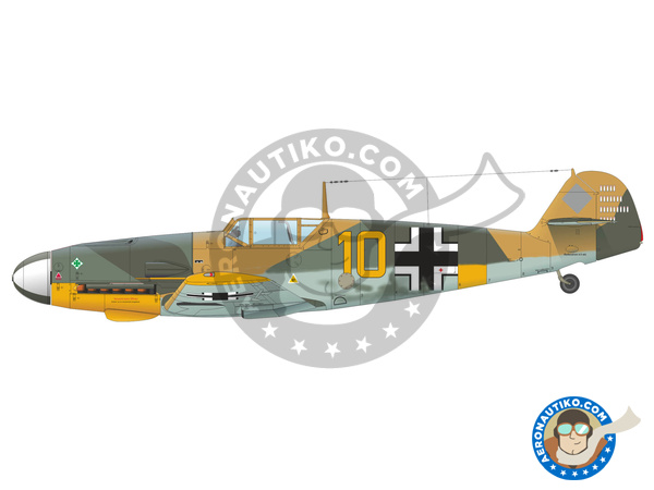 Image 4: Messerschmitt Bf 109 F-4 | Airplane kit in 1/48 scale manufactured by Eduard (ref. 82114)