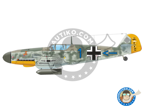 Image 5: Messerschmitt Bf 109 F-4 | Airplane kit in 1/48 scale manufactured by Eduard (ref. 82114)