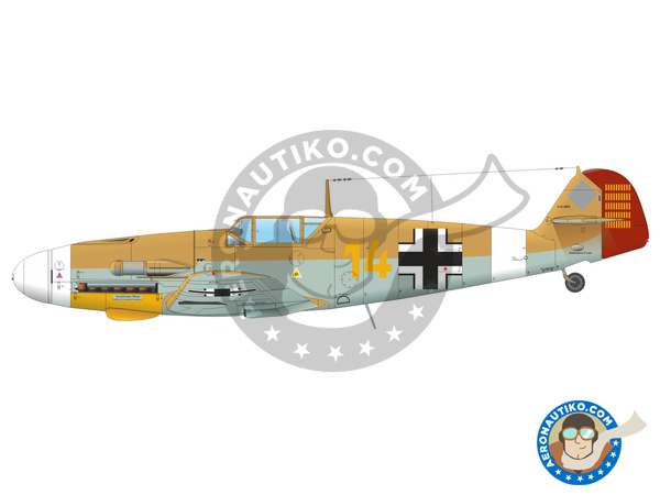 Image 6: Messerschmitt Bf 109 F-4 | Airplane kit in 1/48 scale manufactured by Eduard (ref. 82114)