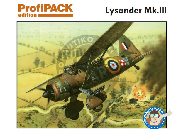Image 1: Westland Lysander Mk III | Airplane kit in 1/48 scale manufactured by Eduard (ref. 8290)