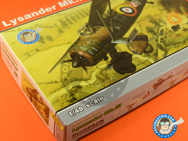 Image 3: Westland Lysander Mk III | Airplane kit in 1/48 scale manufactured by Eduard (ref. 8290)