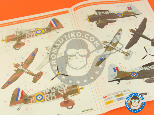 Image 12: Westland Lysander Mk III | Airplane kit in 1/48 scale manufactured by Eduard (ref. 8290)