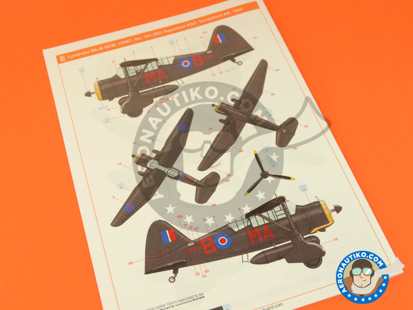 Image 13: Westland Lysander Mk III | Airplane kit in 1/48 scale manufactured by Eduard (ref. 8290)